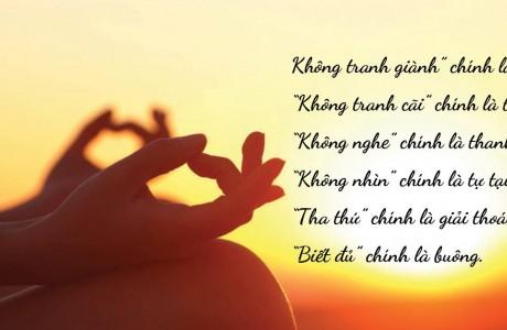 Phật dạy cách buông bỏ mọi phiền não